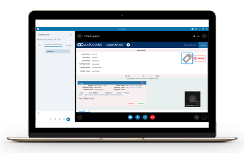 SmartTAP 360° Call Recording Solution Skyper for Bussiness Client