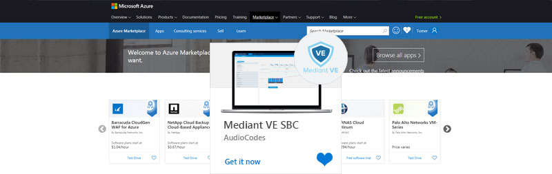 AudioCodes'-Mediant-VE-Session-Border-Controller-Available-on-Azure-Marketplace
