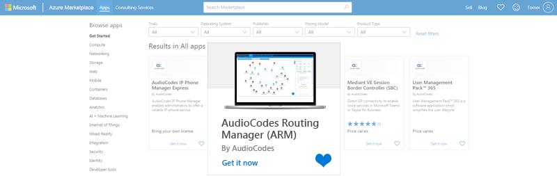 Product-Notice-0370-AudioCodes-Routing-Manager-(ARM)-Now-Available-on-Microsoft-Azure-Marketplace-1